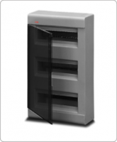 АВВ EUROPA бокс 36М наружный серый, прозрачная дверь 12476