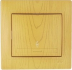 Lezard MIRA выключатель 1 кл. проходной Ольха 0701-105