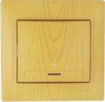 Lezard MIRA выключатель 1 кл. проходной с подс. Ольха 0701-114