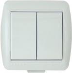 Lezard NATA выключатель 2 кл. белый 710-0200-101