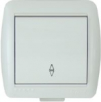 Lezard NATA выключатель 1 кл. проходной белый 710-0200-105