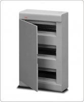 АВВ EUROPA бокс 36М наружный серый, серая дверь 12456