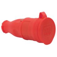 T-Plast штепсель каучуковый с заземлением IP44 красная 31.01.304.1600