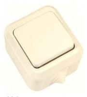 Makel полугерметичный IP44 выключатель 1кл крем 18200