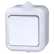 Makel полугерметичный IP44 выключатель 1кл белый 18300