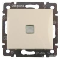 Legrand Valena Выключатель 1 кл. проходной с подсветкой кремовый 774326