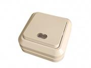 Makel SIVA USTU выключатель 1 кл. проходной с подсв. крем 45225
