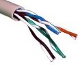 Витая пара, компьютерный провод экранированный FTP-5e 4х2х0,4 24AWG