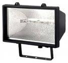 Прожектор галогеновый уличный IP54 1500 вт черный
