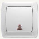 Viko Carmen выключатель встраиваемый 1кл. с подсветкой белый 90561019