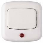 Кнопка звонка белая с красной подсветкой A1 0.4-893, Беларусь