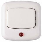 Кнопка звонка белая A1 0,4-894, Беларусь