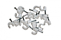 Скобы пластиковые для крепления кабеля (1уп)