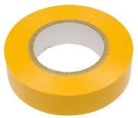 Изолента ПВХ желтая 19мм*20м 150мкм
