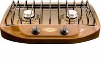 """Газовая плита """"Гефест"""" ПНС 700-02 коричневая12,5х50х34,5, 2конф, 1700Вт, фиксированное положение """"малое пламя"""", термостойкий эмалированный корпус"""