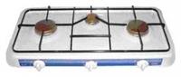 Газовая плита Умелица 003 3 конф.59,5х32х8,5, бел эмаль, 3*3,8 кВт, 3 алюм. конф, штуцер в компл, сжиж газ