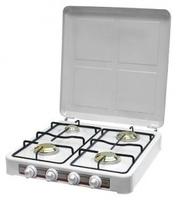 Газовая плита Умелица 004 4 конф.54,5х51,5х11, бел эмаль, 4*3,8 кВт, 4 алюм. конф, штуцер в компл, сжиж газ