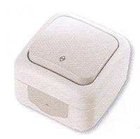 Vi-ko Palmiye выключатель 1 кл. проходной IP54 открытая установка серая 90555504