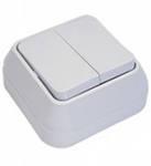 Makel SIVA USTU выключатель 2 кл. белый 45103