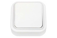Выключатель А16-131, 1-клавишный о/у накладной белый, Беларусь