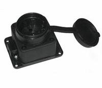 BEMIS Розетка с заземлением с крышкой 16A IP44 10-009