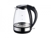 Чайник ENERGY E-254G (2,0 л, диск) стеклянный черный
