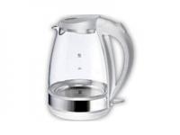 Чайник ENERGY E-254G (2,0 л, диск) стеклянный белый