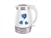 Чайник ENERGY E-252C (1,7 л, диск) керамический, цветы