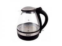 Чайник ENERGY E-250G (1,6 л, диск) стеклянный черный