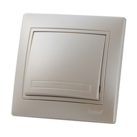 Lezard MIRA выключатель 1 кл. Жемчужно-белый металик 3030-100