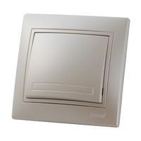 Lezard MIRA выключатель 1 кл. Жемчужно-белый металлик 3030-100