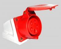 Розетка силовая 5 контактов 16А стационарная 3Р+PE+N 115 380V IP44