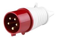Вилка силовая 5 контактов 32А 025 380V 3Р+N+E IP44