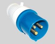 Вилка силовая 3 контакта 32А 023 220V 2Р+E IP44