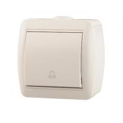 Lezard NATA кнопка звонка белая 710-0200-102