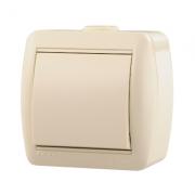 Lezard NATA выключатель 1 кл. крем 0300-100