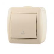 Lezard NATA кнопка звонка крем 710-0300-102
