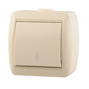 Lezard NATA выключатель 1 кл. проходной крем 710-0300-105