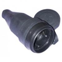 TENPO Штепсель герм. с заземлением каучук черный 29