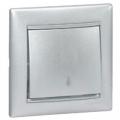 Legrand Valena Выключатель 1кл. прох. алюминий 770106