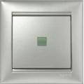 Legrand Valena Выключатель 1кл. прох. с подсв. алюминий 770126