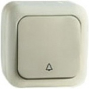 Vi-ko Palmiye кнопка звонка IP54 открытая установка крем 90555606