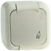 Vi-ko Palmiye розетка с крышкой IP54 открытая установка крем 90555608