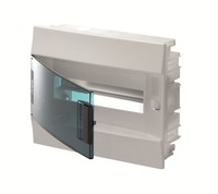 ABB Бокс в нишу Mistral IP41 12М зеленая прозрачная дверь (c клеммами) 1SLM004101A1203