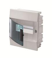 ABB Бокс в нишу Mistral IP41 8М зеленая прозрачная дверь (c клеммами) 1SLM004101A1202