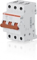 ABB рубильник на DIN-рейку 3-х полюсной SD203/50 рычаг красный 2CDD283101R0050