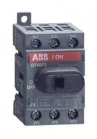 ABB рубильник OT 40F3 до 40А 3х/для установки на DIN-рейку или монтажную плату (с резерв. ручкой) 1SCA104902R1001