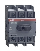 ABB рубильник OT125F3 до 125А 3х/для установки на DIN-рейку или монтажную плату (с резерв. ручкой) 1SCA105033R1001