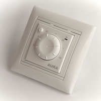 Aura Терморегулятор LTC 030 белый (подходит под рамки Legrand Valena)