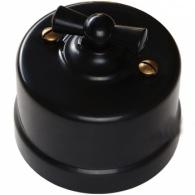Bironi Перекрестный выключатель пластик черный В1-203-23